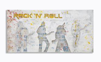Plátěný obraz ROCK N ROLL 120 CM