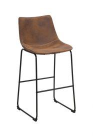Barová židle METROPO 99 CM hnědá kůže