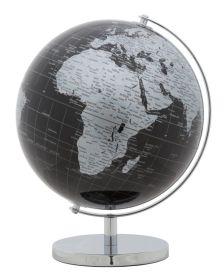 Stolní globus 25 CM černý