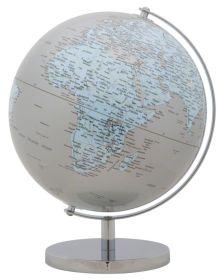 Stolní globus BLUE 25 CM stříbrný