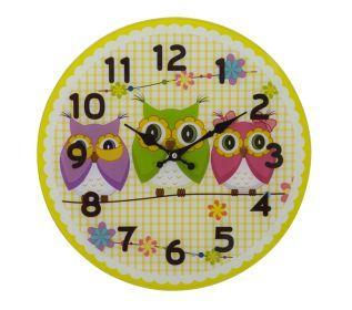 Nástěnné hodiny OWLS FRIENDS A 38 CM