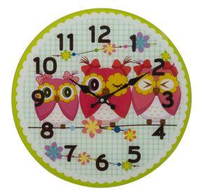 Nástěnné hodiny OWLS FRIENDS B 38 CM