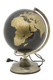 Stolní globus 25 CM bronzový podsvícený