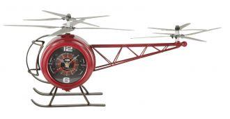 Stolní hodiny HELICOPTER 42 CM