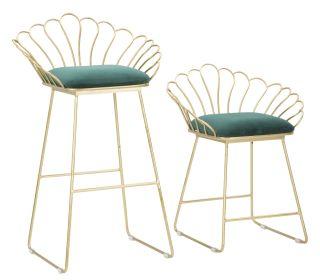2SET židle ELEGANCE zelená