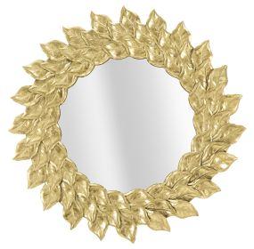 Kulaté zrcadlo GOLDEN FLOWERS 73 CM