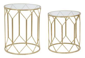 2SET odkládací stolek GOLDYS 60/50 CM