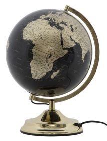 Stolní globus 25 CM zlatý podsvícený