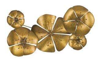 Nástěnná dekorace FLOWER GOLD A 50 CM
