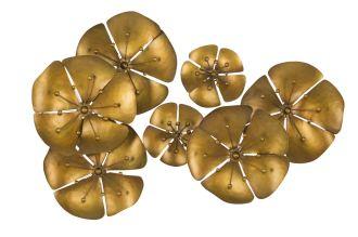 Nástěnná dekorace FLOWER GOLD B 57 CM
