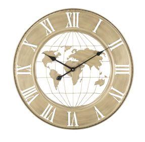 Nástěnné hodiny GOLD WORLD 63 CM