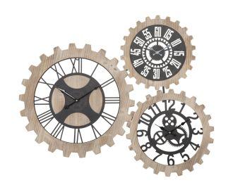 Nástěnné hodiny THREE GEARS 93 CM
