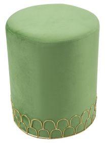 Taburet NOGE 42 CM zelený