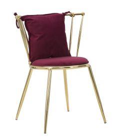 Židle BOKY vínová