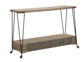 Konzolový stolek COLOGNE 120 CM pojízdný
