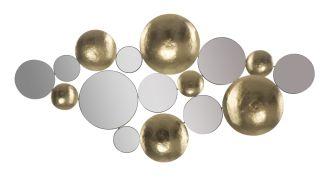Nástěnná dekorace / Zrcadlo GOLD GLAM 118 CM