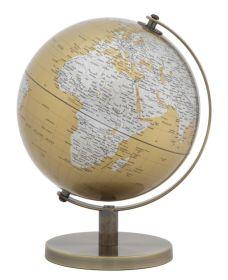 Stolní globus 20 CM oranžový