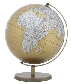 Stolní globus 25 CM oranžový