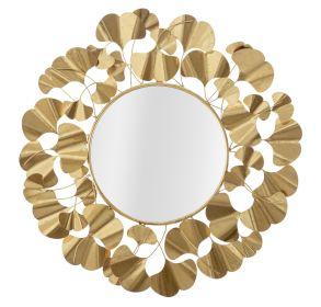 Kulaté zrcadlo GOLD GINKGO 81 CM