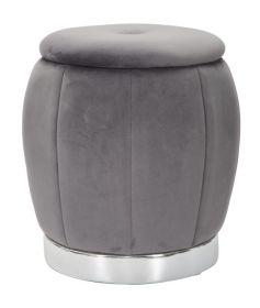 Taburet PARIS 43 CM šedá/stříbrná