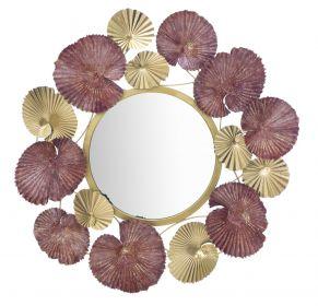 Nástěnná dekorace / Zrcadlo LEAF 70 CM