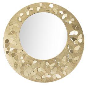 Kulaté zrcadlo GOLD FRAME 75 CM