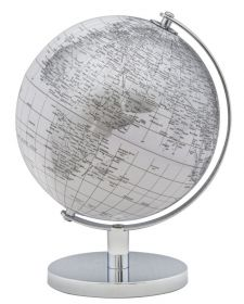 Stolní globus 20 CM bílý
