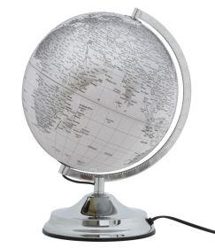 Stolní GLOBUS 38 CM bílý podsvícený