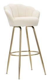 Barová židle ANNA 110 CM krémová