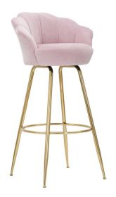 Barová židle ANNA 110 CM růžová