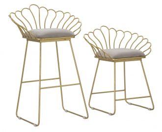 2SET židle ELEGANCE šedá