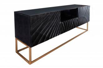 Televizní stolek SCORPION 160 CM černý masiv mango, II. jakost