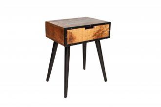 Noční/odkládací stolek INDUSTRIAL 45 CM masiv mango
