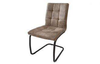 Jídelní židle MODENA vintage taupe mikrovlákno