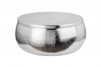 Konferenční stolek ORIENT STORAGE 70 CM stříbrný s úložným prostorem