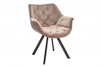 Židlo-křeslo DUTCH COMFORT zlato-béžové samet