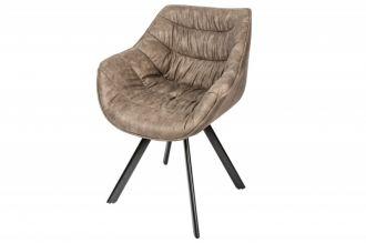 Židlo-křeslo DUTCH COMFORT taupe mikrovlákno