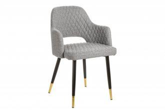 Jídelní židle PARIS světle šedá strukturovaná látka