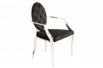 Židle MODERN BAROCCO černá s područkami