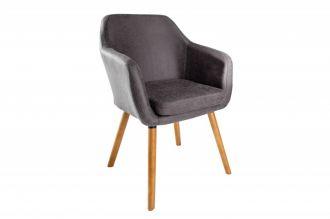 Židle SUPREME vintage šedá mikrovlákno