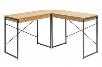 Rohový psací stůl STUDIO dubová dýha