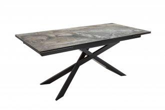 Jídelní stůl EUPHORIA DARK MRAMOR 180-220-260 CM keramika rozkládací