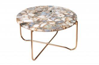 Konferenční stolek NOBLES 62 CM modrý achát