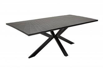 Jídelní stůl SCORPION GALAXIE 200 CM černý masiv mango