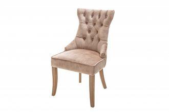 Židle CASTLE S RUKOJETÍ kávová samet