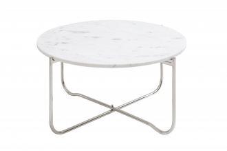 Konferenční stolek NOBLES 62 CM bílý mramor