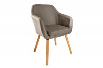 Židle SUPREME vintage taupe mikrovlákno