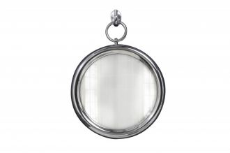 Zrcadlo PORTRAIT 30 CM stříbrné