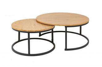 2SET konferenční stolek STUDIO dubová dýha