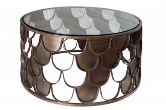 Konferenční stolek ABSTRACT 70 CM antik mosaz